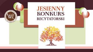 jesienny konkurs recytatorski